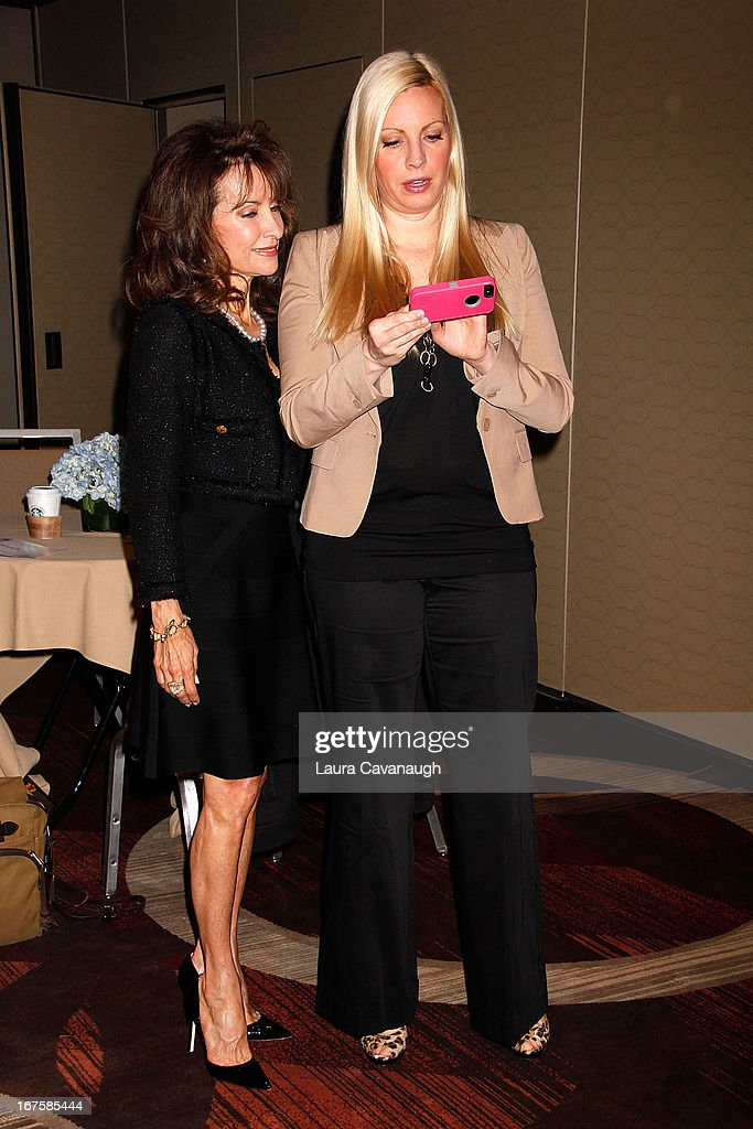 Susan Lucci and daughter Liza Huber attend the 2013 Spark. Ignite Your Network conference at the Sheraton New York Hotel & Towers on April 26, 2013 in New York City.