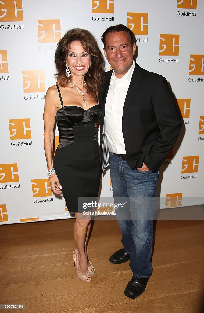 Susan Lucci and Eugene Pack attend 'Celebrity Autobiography' at Guild Hall on August 26 2016 in East Hampton New York