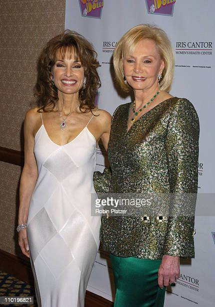 Susan Lucci and Iris Cantor during An Evening of Music From Guys and Dolls to Benefit the Iris Cantor Women's Health Center at The Sheraton New York...