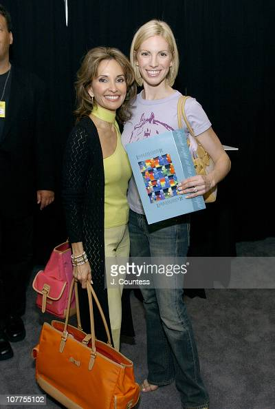 Susan Lucci and Liza Huber with a certificate from the Laser Eye Center of Silicon Valley The Laser Eye Center was giving presenters Certificates for...