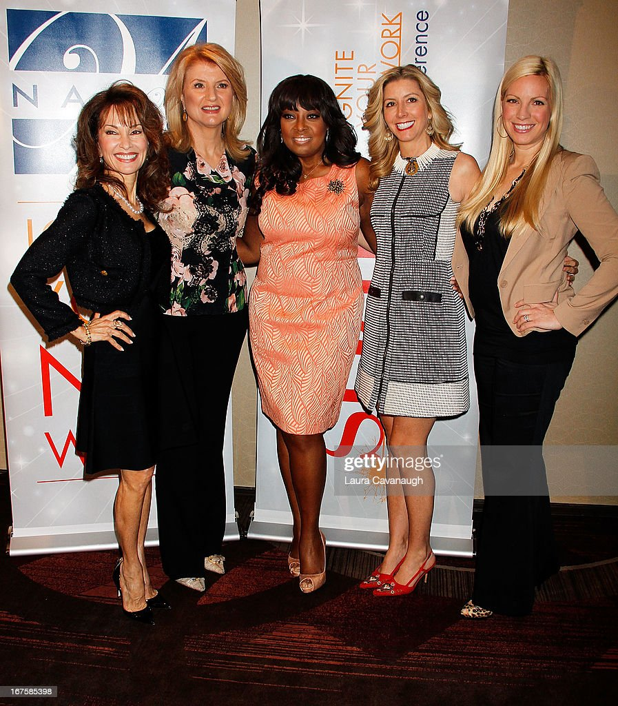 Susan Lucci, Arianna Huffington, Star Jones, Sarah Blakely and Liza Huber attend the 2013 Spark. Ignite Your Network conference at the Sheraton New York Hotel & Towers on April 26, 2013 in New York City.