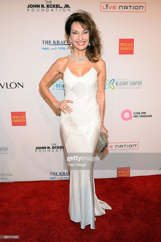 <a gi-track='captionPersonalityLinkClicked' href=/galleries/search?phrase=Susan+Lucci&family=editorial&specificpeople=203010 ng-click='$event.stopPropagation()'>Susan Lucci</a> attends the Elton John AIDS Foundation's 12th Annual An Enduring Vision Benefit at Cipriani Wall Street on October 15, 2013 in New York City.