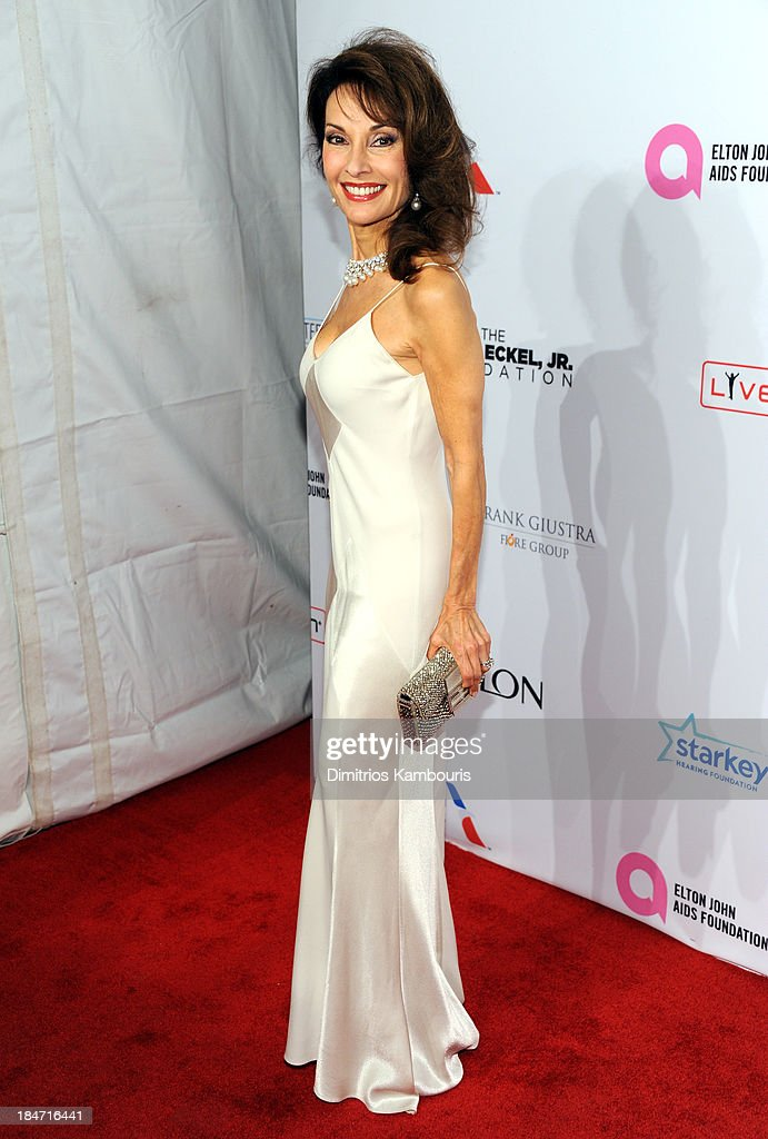 Susan Lucci attends the Elton John AIDS Foundation's 12th Annual An Enduring Vision Benefit at Cipriani Wall Street on October 15, 2013 in New York City.