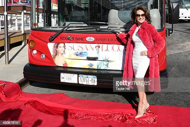 Susan Lucci attends the unveiling of her bus at Grayline New York's Ride Of Fame Honors Susan Lucci at Pier 78 on November 19 2013 in New York City