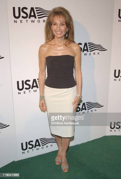 Susan Lucci during 2003 US Open USA Network Celebrates The Opening Of the 2003 US Open at USTA National Tennis Center in Queens New York United States