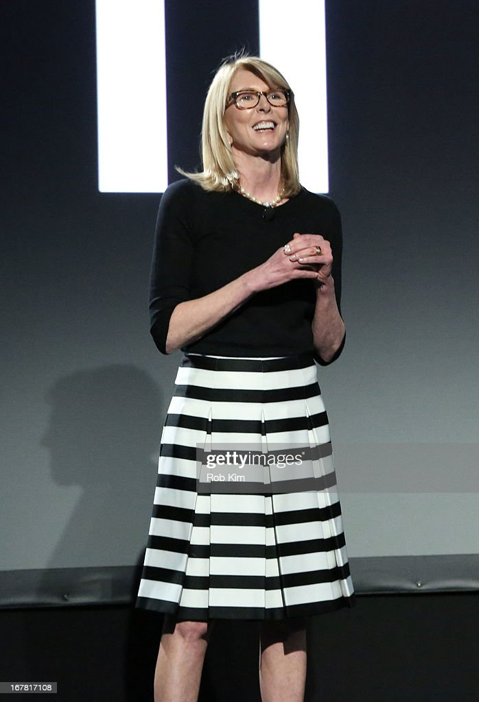 Susan Lyne speaks onstage at the AOL 2013 Digital Content NewFront on April 30 2013 in New York City