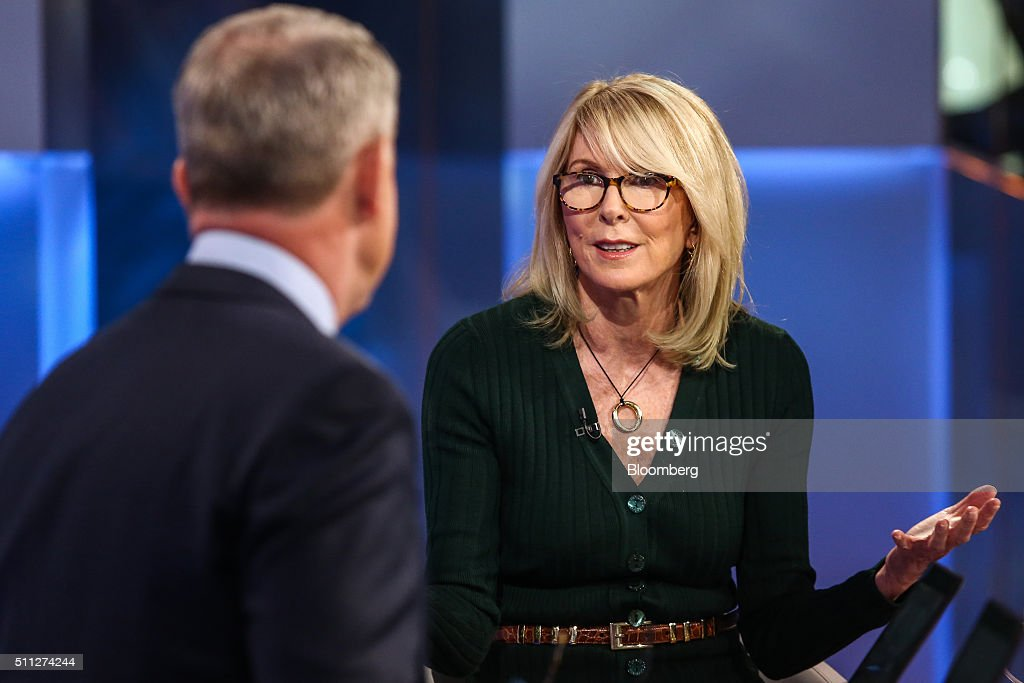 Susan Lyne vice chairman of Gilt Groupe Inc speaks during a Bloomberg Television interview in New York US on Friday Feb 19 2016 Lyne spoke about the...