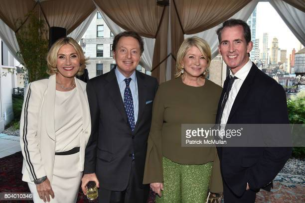Susan Magrino Dunning James Cohen Martha Stewart and Kevin Sharkey at James D Dunning Jr's Birthday at The NoMad Hotel on June 7 2017 in New York City