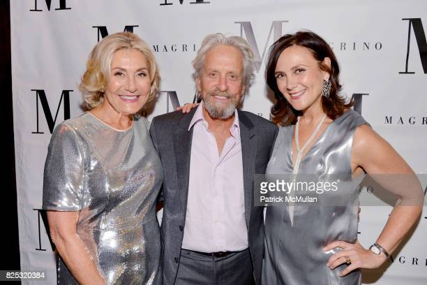Susan Magrino Michael Douglas and Allyn Magrino attend Magrino PR 25th Anniversary at Bar SixtyFive at Rainbow Room on July 25 2017 in New York City
