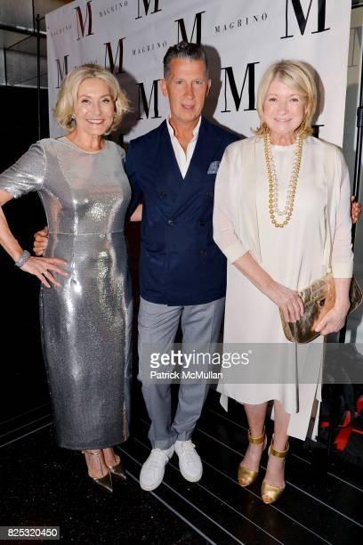 Susan Magrino Stefano Tonchi and Martha Stewart at Magrino PR 25th Anniversary at Bar SixtyFive at Rainbow Room on July 25 2017 in New York City