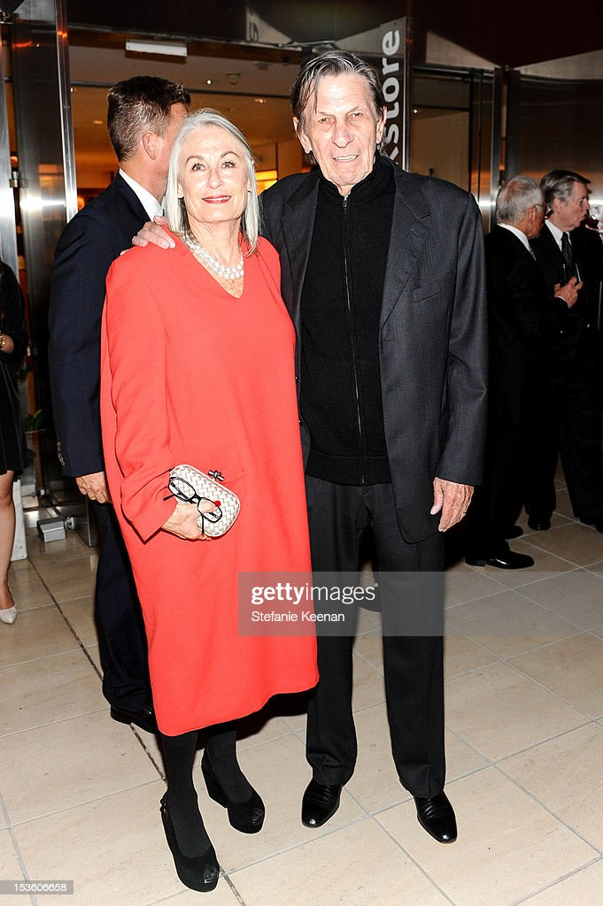 Susan Nimoy and <a gi-track='captionPersonalityLinkClicked' href=/galleries/search?phrase=Leonard+Nimoy&family=editorial&specificpeople=216431 ng-click='$event.stopPropagation()'>Leonard Nimoy</a> attend 2012 Hammer Gala at Hammer Museum on October 6, 2012 in Westwood, California.