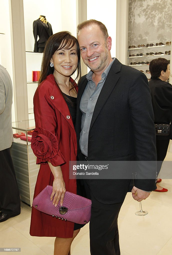 Susan Paek and Bill Peters attend Dior celebrates the opening of Dior Couture Patrick Demarchelier Exhibition at the Dior store at South Coast Plaza May 10, 2013 in Costa Mesa, California.