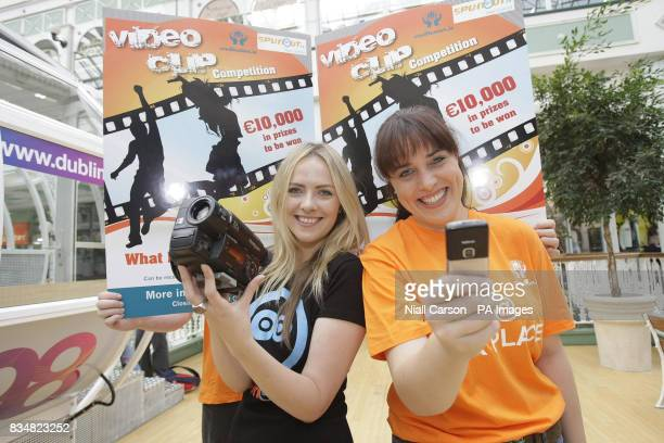 Susan Quirke from SpunOutie and Mairead Curry of Coill Dubh Credit Union at the launch a new credit Union video clip competition worth 10000 euro...