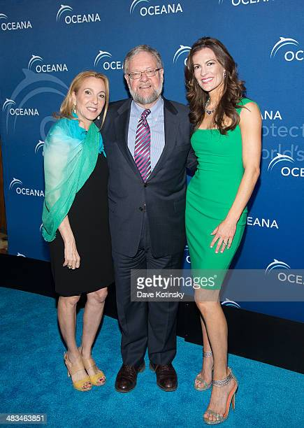 Susan Rockefeller David Rockefeller Jr and Angela Kilcullen attends Oceana's New York City Benefit at Four Seasons Restaurant on April 8 2014 in New...