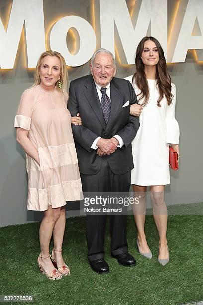 Susan Rockefeller David Rockefeller Sr and Ariana Rockefeller attend the 2016 Museum of Modern Art Party in the Garden at Museum of Modern Art on...