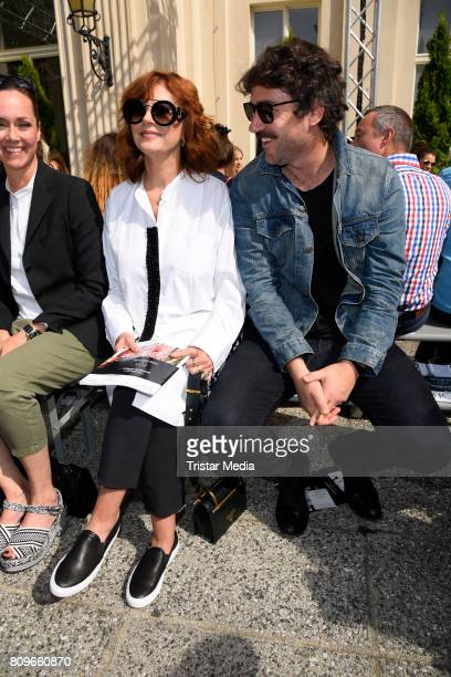 Susan Sarandon and Bryn Mooser during the Vanessa Schindler presented by MercedesBenz ELLE defile during 'Der Berliner Mode Salon' Spring/Summer 2018...