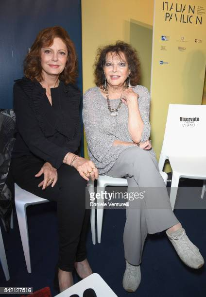 Susan Sarandon and Claudia Cardinale attend the Kineo Diamanti Awards press conference during the 74th Venice Film Festival at on September 3 2017 in...
