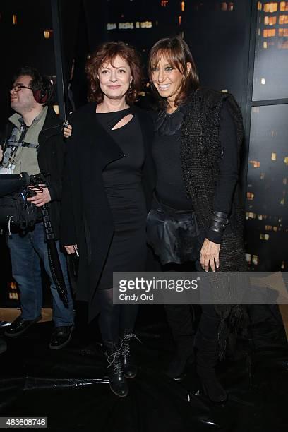Susan Sarandon and designer Donna Karan attend the Donna Karan New York fashion show during MercedesBenz Fashion Week Fall 2015 on February 16 2015...