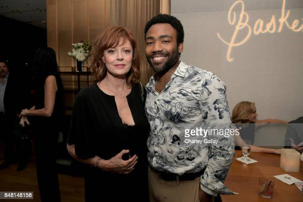 Susan Sarandon and Donald Glover attend FX Networks celebration of their Emmy nominees in partnership with Vanity Fair at Craft on September 16 2017...