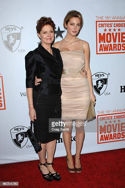 Susan Sarandon and Eva Amurri arrive for the 15th Annual Critics Choice Movie Awards Official After Party at Katsuya on January 15 2010 in West...