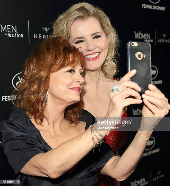 Susan Sarandon and Geena Davis recreat their Thelma and Louise selfie 25 years on at the 'Women in Motion' Prize Reception part of The 69th Annual...