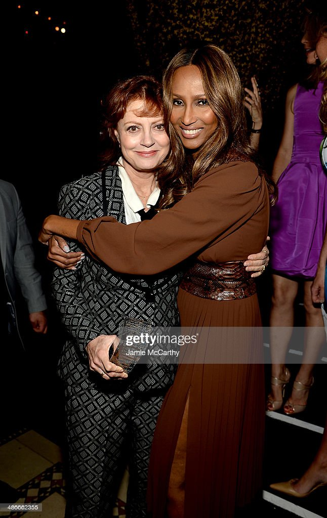 Susan Sarandon and Iman attend Variety Power Of Women New York presented by FYI at Cipriani 42nd Street on April 25 2014 in New York City