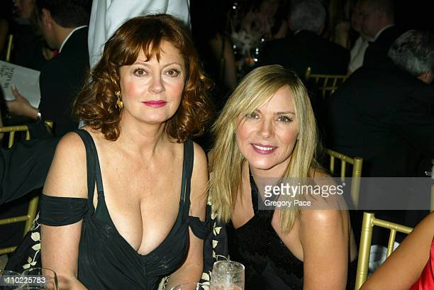 Susan Sarandon and Kim Cattrall during The Accessories Council Presents the 8th Annual Ace Awards at Cipriani 42nd Street in New York City New York...