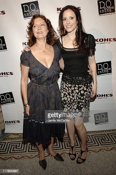 Susan Sarandon and MaryLouise Parker during 'Do Something' BRICK Awards Sponsered by Kohl's at Capitale in New York City New York United States