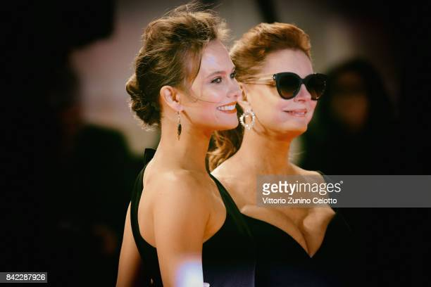 Susan Sarandon and Paola Calliari from Kineo delegation walk the red carpet ahead of the 'The Leisure Seeker ' screening during the 74th Venice Film...