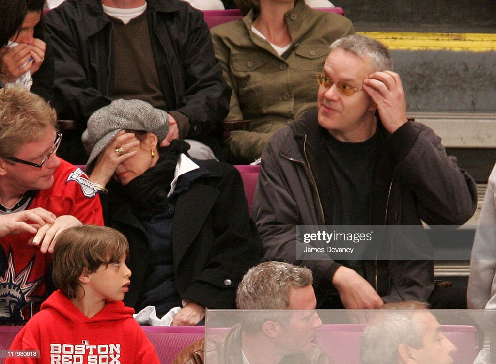 Susan Sarandon and Tim Robbins during Celebrities Attend Buffalo Sabres vs New York Rangers Playoff Game May 6 2007 at Madison Square Garden in New...