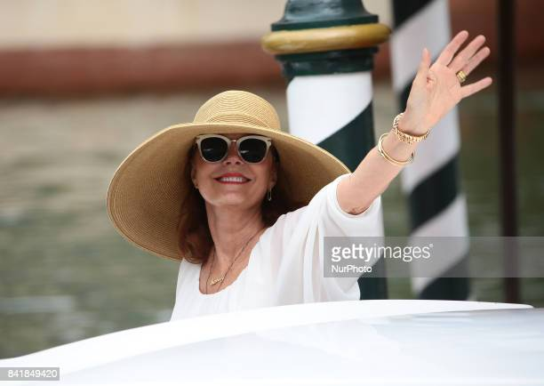 Susan Sarandon arrive at the Hotel Excelsior during the 74th Venice Film Festival on September 2 2017 in Venice Italy