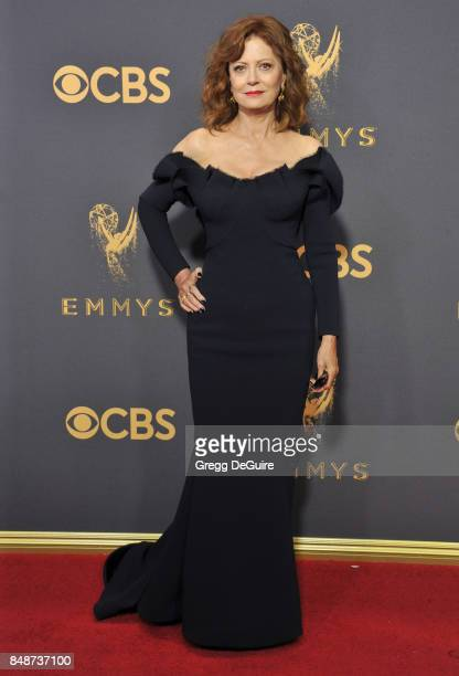 Susan Sarandon arrives at the 69th Annual Primetime Emmy Awards at Microsoft Theater on September 17 2017 in Los Angeles California