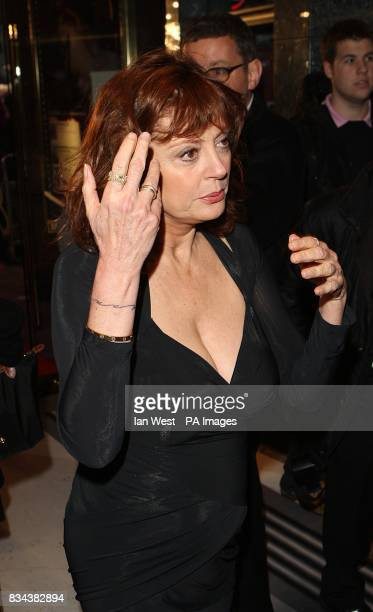 Susan Sarandon arrives for the UK premiere of Speed Racer at the Empire Leicester Square London WC2