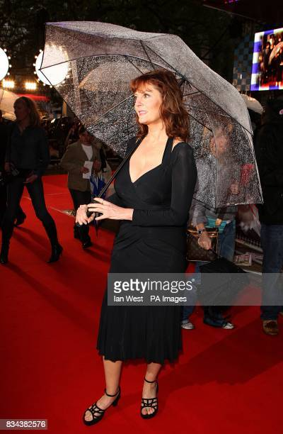 Susan Sarandon arrives in the rain for the UK premiere of Speed Racer at the Empire Leicester Square London WC2