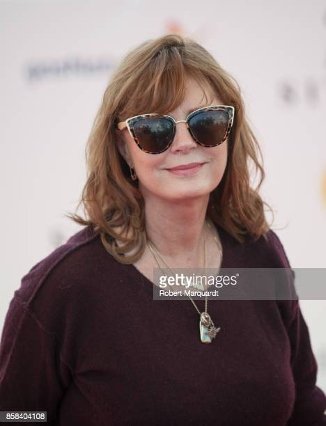 Susan Sarandon attends a photocall for her award 'Gran Premio Honorifico' at the Sitges Film Festival 2017 on October 6 2017 in Sitges Spain