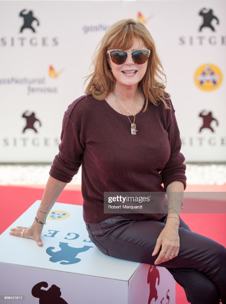 Susan Sarandon attends a photocall for her award 'Gran Premio Honorifico' at the Sitges Film Festival 2017 on October 6, 2017 in Sitges, Spain.