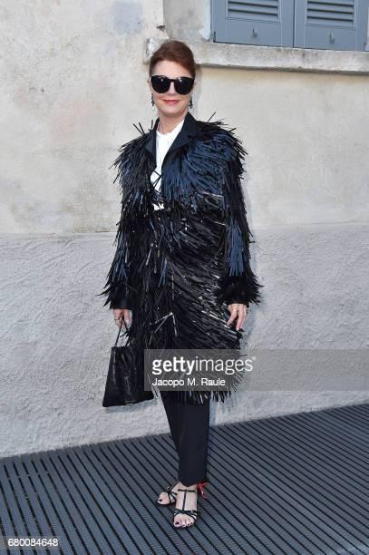 Susan Sarandon attends a 'Private view of 'TV 70 Francesco Vezzoli Guarda La Rai' at Fondazione Prada on May 7 2017 in Milan Italy