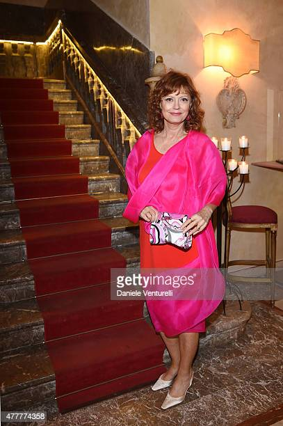 Susan Sarandon attends Day 7 of the 61st Taormina Film Fest on June 19 2015 in Taormina Italy