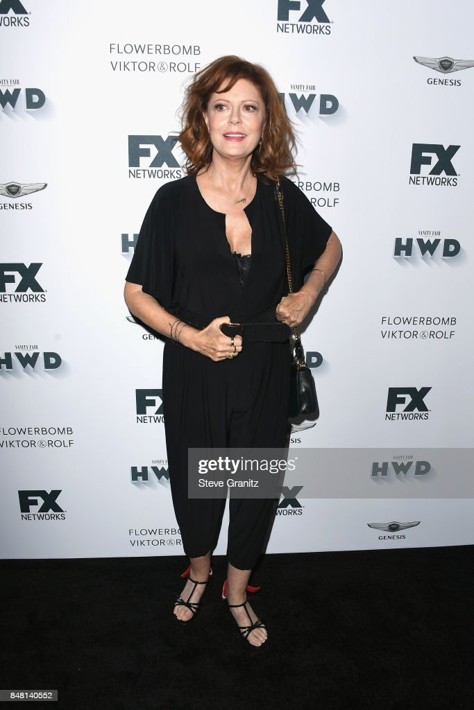 Susan Sarandon attends FX and Vanity Fair Emmy Celebration at Craft on September 16, 2017 in Century City, California.