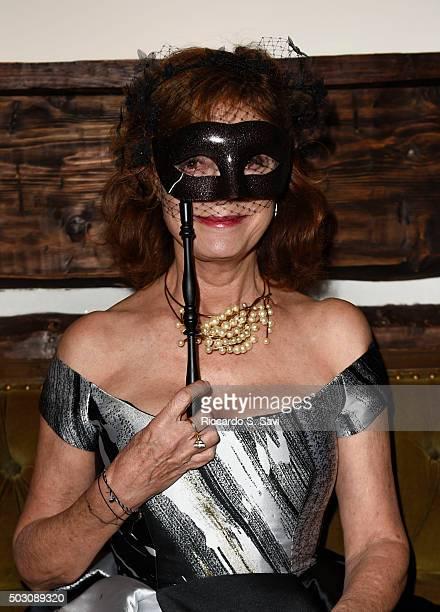 Susan Sarandon attends New Year's Eve Midnight Masquerade at St Regis Resort Aspen on December 31 2015 in Aspen Colorado