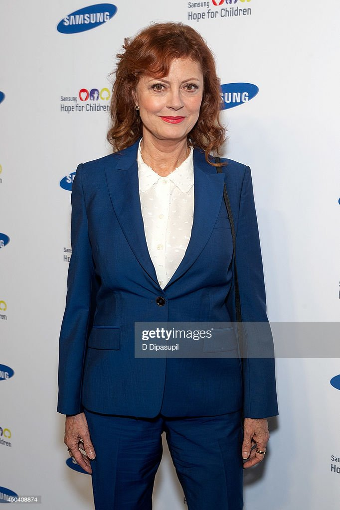 <a gi-track='captionPersonalityLinkClicked' href=/galleries/search?phrase=Susan+Sarandon&family=editorial&specificpeople=202474 ng-click='$event.stopPropagation()'>Susan Sarandon</a> attends the 13th Annual Samsung Hope For Children Gala at Cipriani Wall Street on June 10, 2014 in New York City.