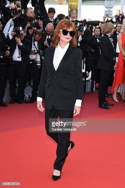 Susan Sarandon attends the 'Cafe Society' premiere and the Opening Night Gala during the 69th annual Cannes Film Festival at the Palais des Festivals...