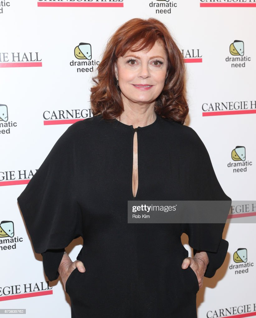 Susan Sarandon attends The Children's Monologues at Carnegie Hall on November 13, 2017 in New York City.