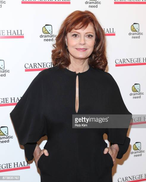 Susan Sarandon attends The Children's Monologues at Carnegie Hall on November 13 2017 in New York City