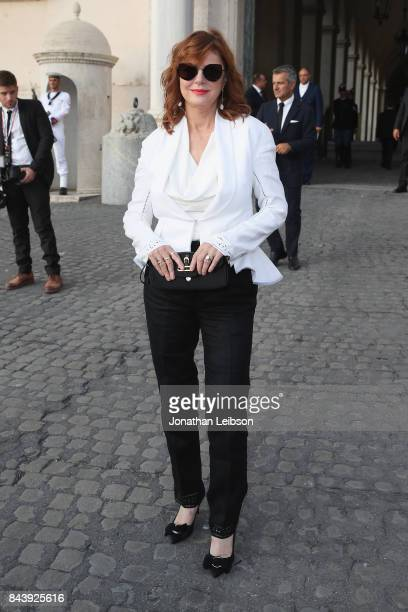 Susan Sarandon attends the Dinner and Entertainment at Palazzo Colonna as part of the 2017 Celebrity Fight Night in Italy Benefiting The Andrea...