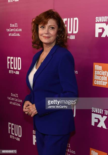 Susan Sarandon attends the 'Feud Bette And Joan' NYC Event at Alice Tully Hall at Lincoln Center on April 18 2017 in New York City