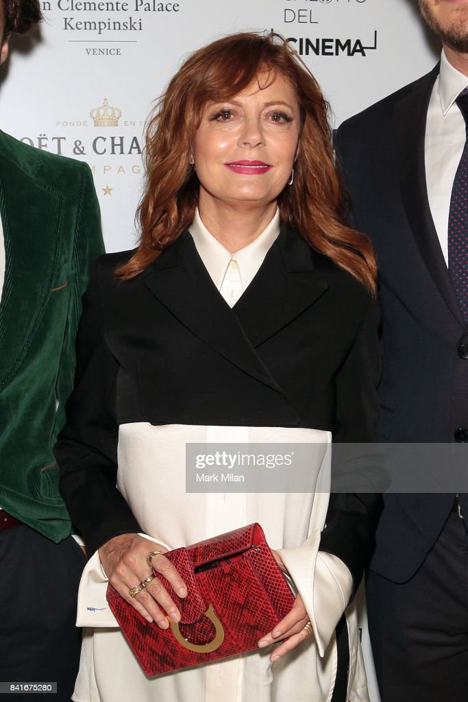 Susan Sarandon attends the Human Flow Party during the 74th Venice Film Festival at San Clemente Palace Hotel on September 1, 2017 in Venice, Italy.