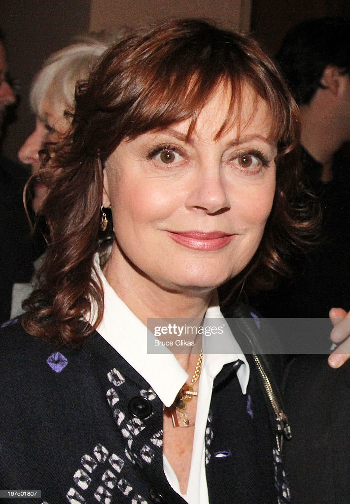 <a gi-track='captionPersonalityLinkClicked' href=/galleries/search?phrase=Susan+Sarandon&family=editorial&specificpeople=202474 ng-click='$event.stopPropagation()'>Susan Sarandon</a> attends the 'I'll Eat You Last: A Chat With Sue Mengers' Broadway opening night at The Booth Theater on April 24, 2013 in New York City.