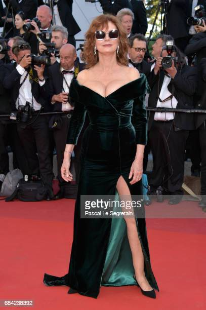 Susan Sarandon attends the 'Ismael's Ghosts ' screening and Opening Gala during the 70th annual Cannes Film Festival at Palais des Festivals on May...