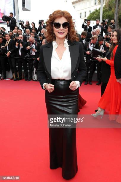 Susan Sarandon attends the 'Loveless ' screening during the 70th annual Cannes Film Festival at Palais des Festivals on May 18 2017 in Cannes France